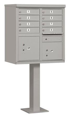 8 door pedestal silver